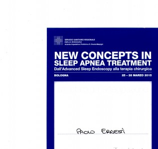 NEW CONCEPTS IN SLEEP APNEA TREATMENT Dall'Advanced Sleep Endoscopy alla terapia chirurgica