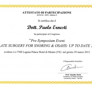 Palate Surgery for Snoring & OSAHS: Up to date 2012